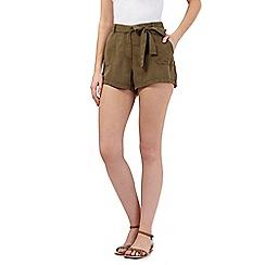 Beach Collection - Khaki twill shorts