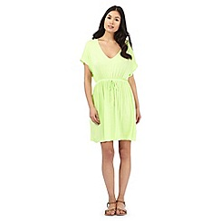 Beach Collection - Lime jersey kaftan
