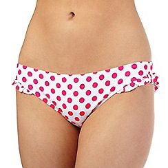 Floozie by Frost French - Pink polka dot bikini bottoms