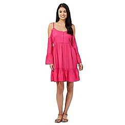 Floozie by Frost French - Bright pink cold shoulder kaftan dress