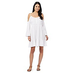 Floozie by Frost French - White cold shoulder kaftan dress