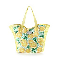 Floozie by Frost French - Yellow sunflower tote bag