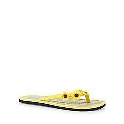 Floozie by Frost French - Yellow sunflower flip flops