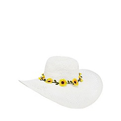 Floozie by Frost French - White sunflower floppy hat