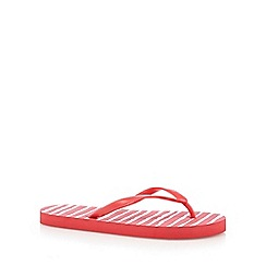 Beach Collection - Coral striped flip flops