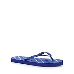 Beach Collection - Navy spot flip flops