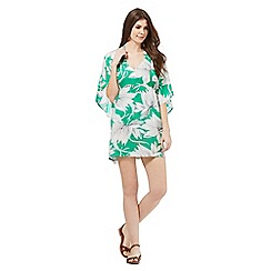 J by Jasper Conran - Green waterlily print kaftan