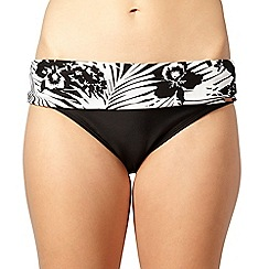 Panache - Black folded panel bikini briefs