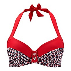 Panache - Red halter neck bikini top