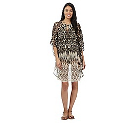 Butterfly by Matthew Williamson - Taupe ikat kaftan