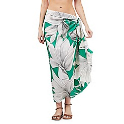 J by Jasper Conran - Green waterlily print sarong