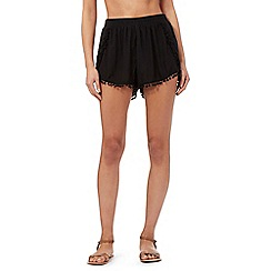 Butterfly by Matthew Williamson - Black pom pom shorts