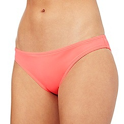 Red Herring - Pink plain bikini bottoms