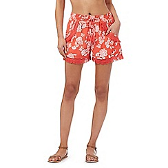 Butterfly by Matthew Williamson - Coral floral print shorts