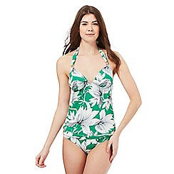 J by Jasper Conran - Green waterlily print tankini