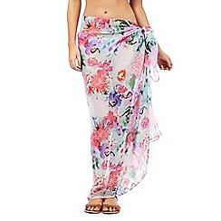 Reger by Janet Reger - Pink floral print sarong