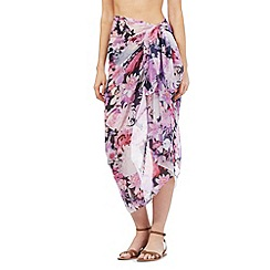 Reger by Janet Reger - Purple floral print sarong