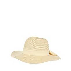 Reger by Janet Reger - Beige bow floppy hat