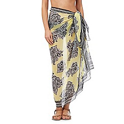 Beach Collection - Yellow floral print sarong