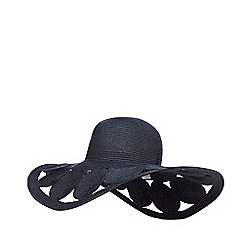 J by Jasper Conran - Navy circles floppy hat