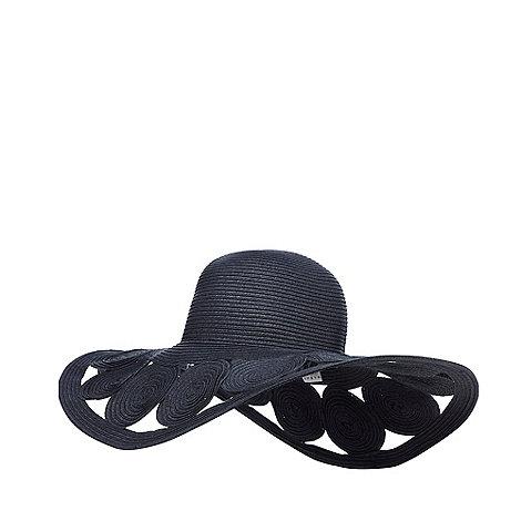 J by Jasper Conran - Navy circles floppy hat
