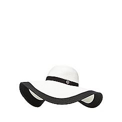 Principles by Ben de Lisi - White contrast tipped floppy hat