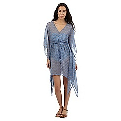 Beach Collection - Blue tile print kaftan