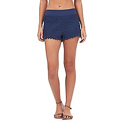 Reger by Janet Reger - Navy lace overlay shorts