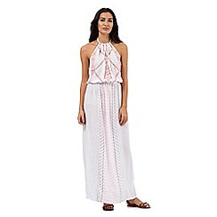 Butterfly by Matthew Williamson - White embroidered maxi dress