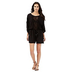 Beach Collection - Black crochet playsuit