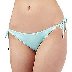 Red Herring - Aqua plain side tie bikini bottoms
