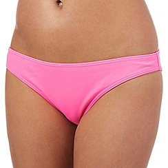 Red Herring - Bright pink plain bikini bottoms