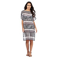 J by Jasper Conran - Navy striped print kaftan