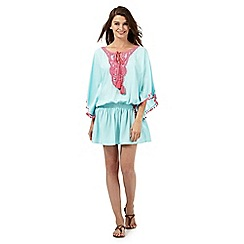 Red Herring - Light blue lace trim kaftan
