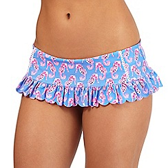 Floozie by Frost French - Blue seahorse print skirt bikini bottoms