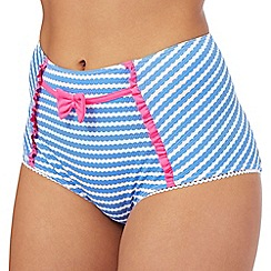 Floozie by Frost French - Blue high-waisted bikini bottoms