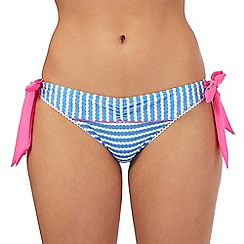 Floozie by Frost French - Blue tie side bikini bottoms