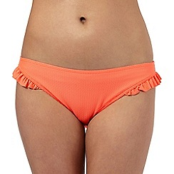 Floozie by Frost French - Orange textured bow applique bikini bottoms