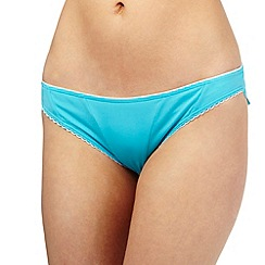 Floozie by Frost French - Blue scallop trim bikini bottoms