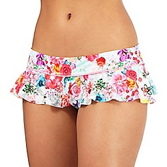Floozie by Frost French - Multi-coloured floral print skirt bikini bottoms