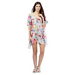 Floozie by Frost French - Multi-coloured floral print sequin kaftan
