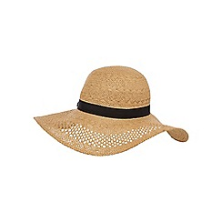 Floozie by Frost French - Beige floppy straw hat