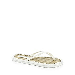 Floozie by Frost French - White 'Shimmer' rattan sandals