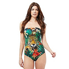 Butterfly by Matthew Williamson - Green cheetah print swimsuit