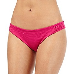 Butterfly by Matthew Williamson - Dark pink textured bikini bottoms
