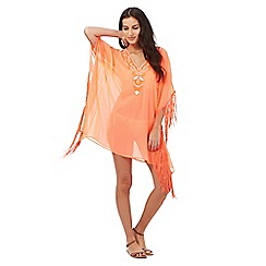 Butterfly by Matthew Williamson - Orange tasselled kaftan