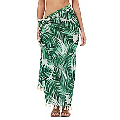 Butterfly by Matthew Williamson - Green leaf print sarong