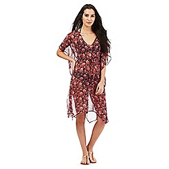 Gorgeous DD+ - Red floral print kaftan