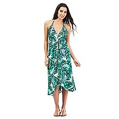 Butterfly by Matthew Williamson - Green leaf print midi dress