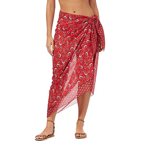 Gorgeous DD+ - Red print sarong
